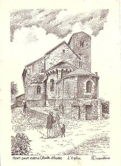 L'église au fusain
